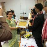 स्वास्थ्य क्षेत्रमा योगदान पुर्याएवापत नोबेलका प्रबन्ध निर्देशक इन्दिरा शर्मा सम्मानित