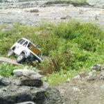 धनकुटाको लाबरबोटेमा एम्बुलेन्स दुर्घटना